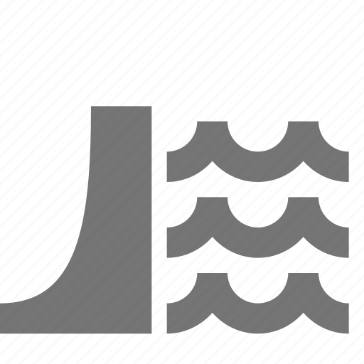 dam, water, waves icon