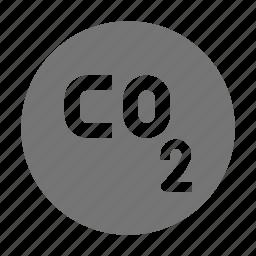 carbon, carbon dioxide, nature icon