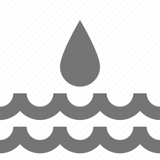 drop, droplet, nature, water, waves icon