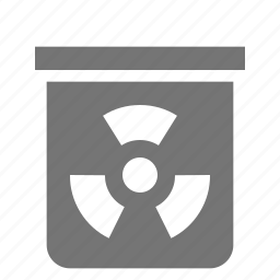 barrel, chemical, nuclear icon