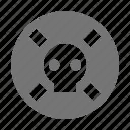 danger, skull icon