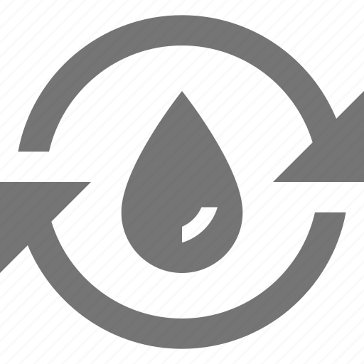 arrows, drop, reuse, water icon