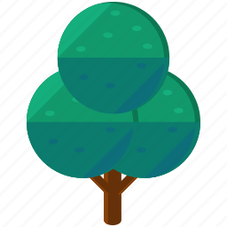 circles, ecology, elements, green, nature, tree icon