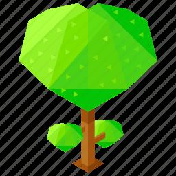 ecology, element, elements, heart, nature, tree icon