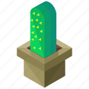 cactus, ecology, elements, nature, square, vase icon
