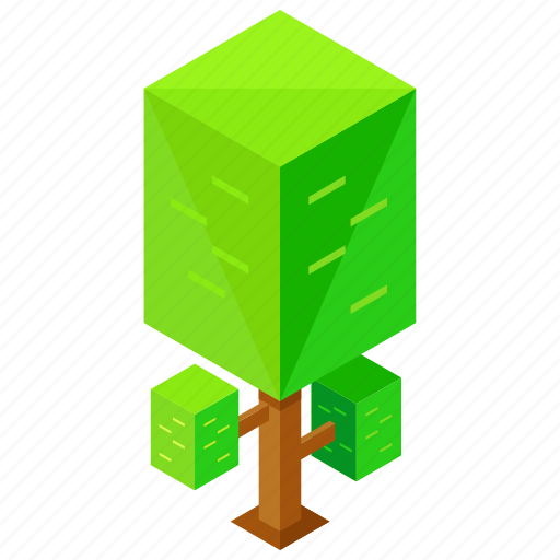 ecology, elements, nature, squared, tree icon