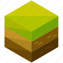 ecology, elements, environment, grass, nature, terrain, unwatered icon