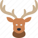 deer, nature, summer icon