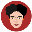 avatar, face, frida, kahlo, lady, spain, woman icon