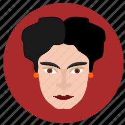 avatar, face, frida, kahlo, lady, spain, woman icon