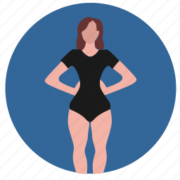 body, figure, form, lady, pear, woman icon
