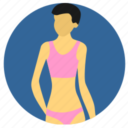 body, figure, form, slim, woman icon