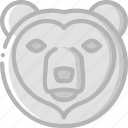bear, nature, summer icon