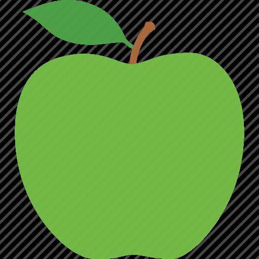 apple, education, fruit, granny, green, leaf, smith icon