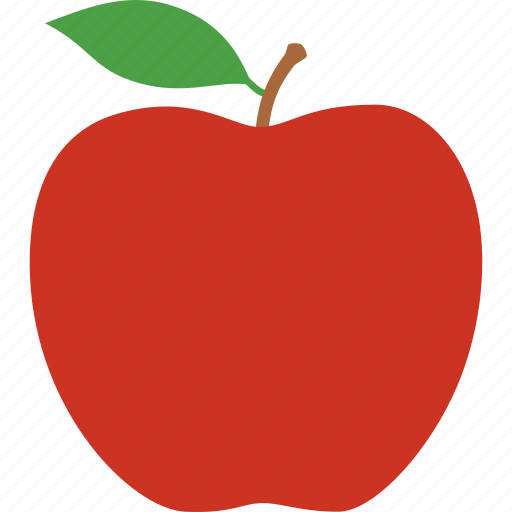 apple, delicious, education, fruit, fuji, leaf, red icon