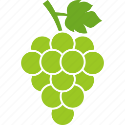 berries, grape, grapes, grapevine, leaf, vineyard, white icon
