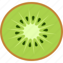chinese, color, fruit, gooseberry, half, kiwi, kiwifruit icon