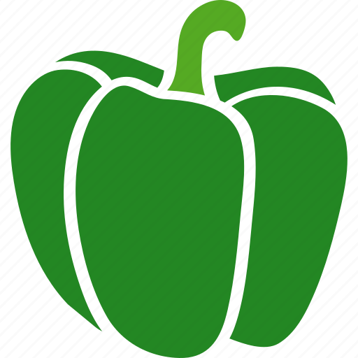 annuum, bell, capsicum, green, pepper, sweet, vegetable icon