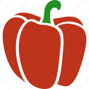 annuum, bell, capsicum, pepper, red, sweet, vegetable icon