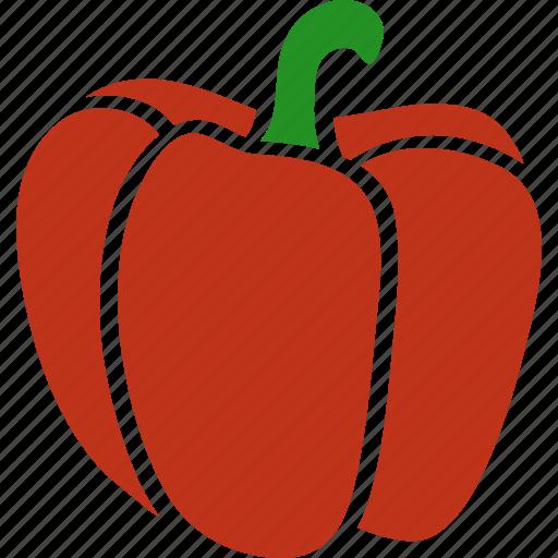 annuum, bell, capsicum, pepper, red, sweet, vegetable icon