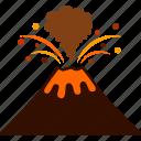 erupt, erupting, eruption, lava, magma, volcanic, volcano icon