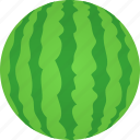 citrullus, color, fruit, green, lanatus, watermelon, whole icon