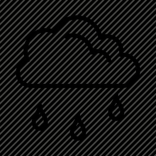 cloud, cloudy, rain, raining, weather icon