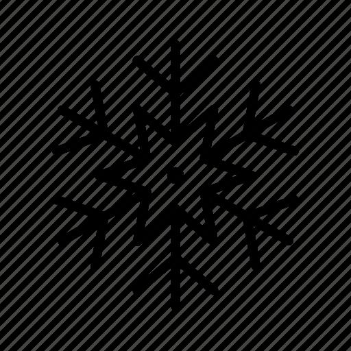 snow, snowflake, snowing, winter icon