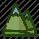 green, hiking, landscape, mountain, nature