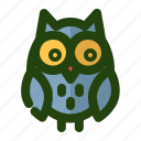 animal, bird, eye, owl, wildlife