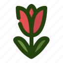 floral, flower, garden, nature, tulip icon
