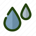 blood, drop, ecology, nature, water icon