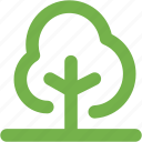 bold, eco, forest, nature, outline, tree, wood icon