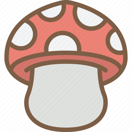 mushroom, nature, summer icon
