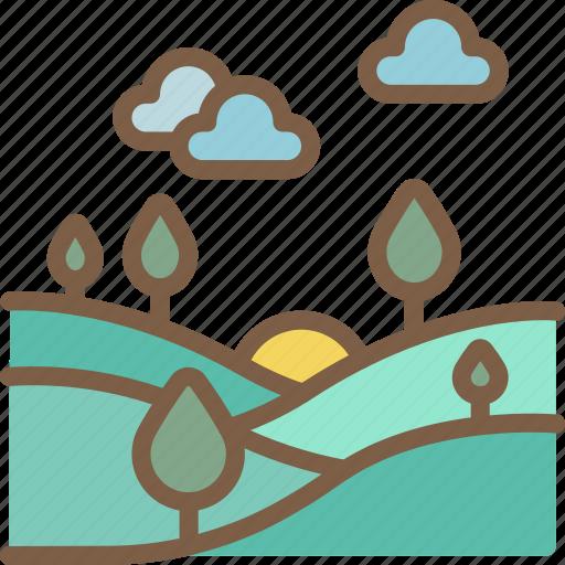 Summer, landscape, nature icon