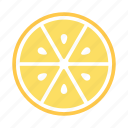drink, fresh, half, lemon, lemon aid, squeeze, yellow icon