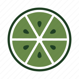 drink, food, fresh, half, juicy, lime, seeds icon