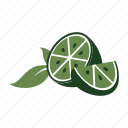 citrus, fresh, fruit, garnish, healthy, lime, produce icon