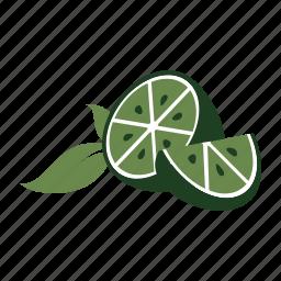citrus, fresh, fruit, garnish, healthy, lime, produce icon