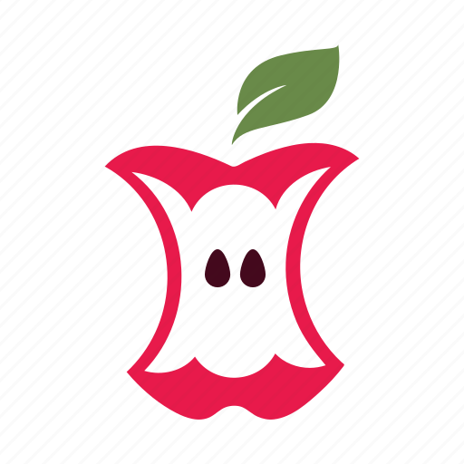 apple, core, delicious, eat, hungry, nature, seed icon