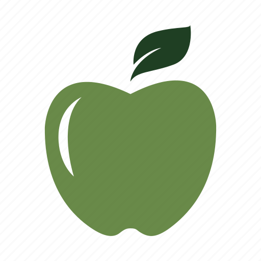 apple, eat, fresh, fruit, green, healthy, nature icon