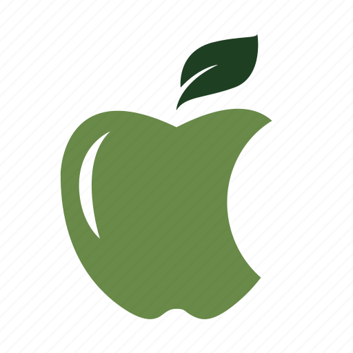 apple, bite, delicious, eat, green, healthy, nature icon