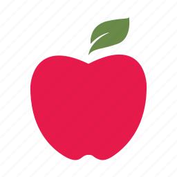 apple, education, fruit, learn, nature, red, teach icon