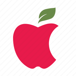 apple, bite, delicious, eat, healthy, nature, red icon