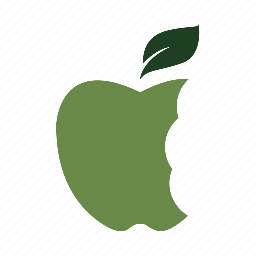 apple, bites, eat, fresh, green, healthy, nature icon