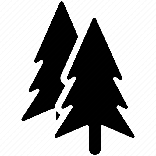 evergreen, fir trees, greenery, nature, trees icon