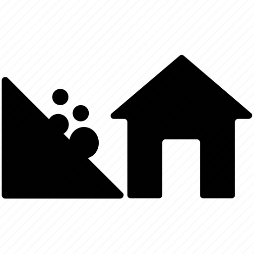 farm house, greenery, nature, rural house, village home icon