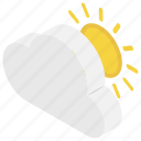 cloudy weather, daytime, spring season, sunny weather, weather icon