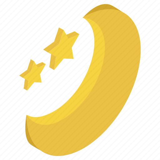 crescent, moon, nature, night, nighttime icon