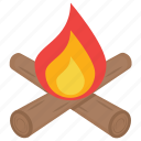 bonfire, campfire, fire, fire pit, flames icon